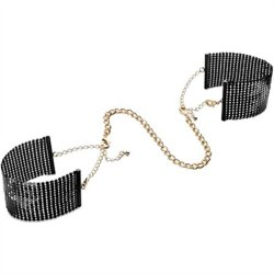 Bijoux Indiscrets: Desir Metallique Handcuffs - Black 1 Product Image