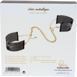 Bijoux Indiscrets: Desir Metallique Handcuffs - Black 4 Product Image
