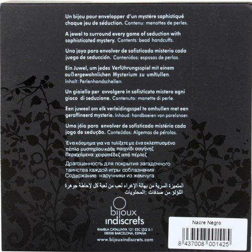 Bijoux Indiscrets: Plaisir Nacre Handcuffs - Black 4 Product Image