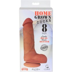 "Home Grown Bioskin Cock: Latte - 8"" 7 Product Image"