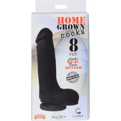 "Home Grown Bioskin Cock: Midnight - 8"" 6 Product Image"