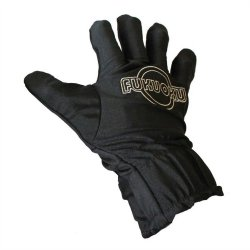 Fukuoku: 5 Finger Right Hand Massage Glove - Black 1 Product Image