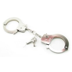 Fetish Fantasy Official Quick Release Handcuffs Silver 1 Product Image