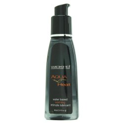 Wicked Aqua Heat Water Based Warming Lubricant - 2 Oz. Product Image