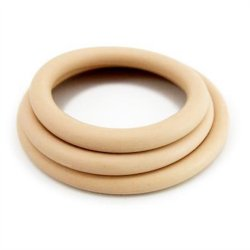 M2M Nitrile Cock Ring - Pack of 3 - Nude 1 Product Image