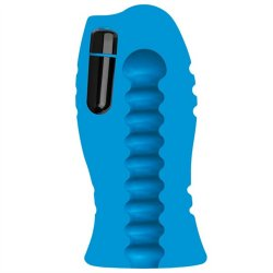 OptiMale: UR3 Vibrating Stroker - Thick Ribs - Blue 2 Product Image