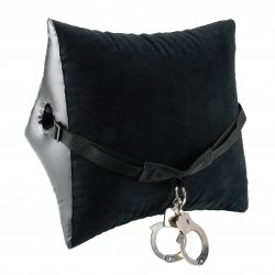Fetish Fantasy Deluxe Position Master With Cuffs - Black 1 Product Image