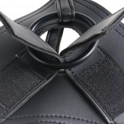 "King Cock Strap-On Harness With 9"" Cock - Black 6 Product Image"