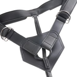 "King Cock Strap-On Harness With 8"" Cock - Brown 5 Product Image"