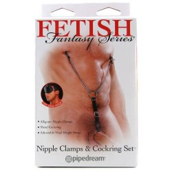 Fetish Fantasy Nipple Clamps & Cock Ring Set 6 Product Image