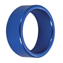 TitanMen: Metal Cock Ring Xtra Thick - Size: 40 mm - Blue  Product Image