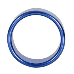 TitanMen: Metal Cock Ring Xtra Thick - Size: 40 mm - Blue  2 Product Image