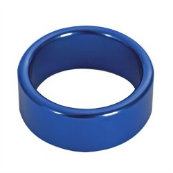 TitanMen: Metal Cock Ring Xtra Thick - Size: 40 mm - Blue  3 Product Image