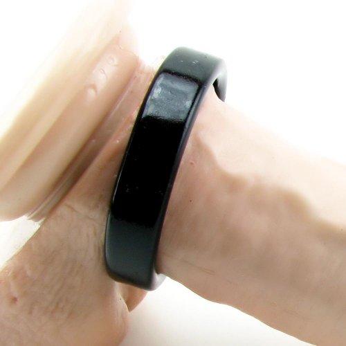 TitanMen Metal Cock Ring - Small - Black 2 Product Image