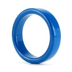 TitanMen Metal Cock Ring - Small - Blue 1 Product Image