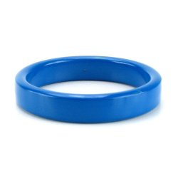 TitanMen Metal Cock Ring - Small - Blue 3 Product Image