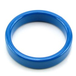 TitanMen Metal Cock Ring - Small - Blue 5 Product Image
