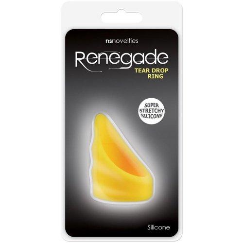 Renegade Tear Drop Cockring - Vivid Yellow 3 Product Image