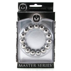 "Master Series: Meridian Steel Beaded Cockring - 1.75"" 5 Product Image"