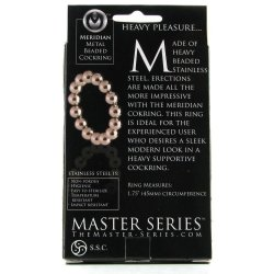 "Master Series: Meridian Steel Beaded Cockring - 1.75"" 6 Product Image"