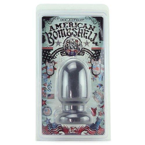 American Bombshell Shellshock Anal Plug - Grey - 6 inch 6 Product Image