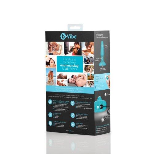 B-Vibe Rimming Plug - Teal 10 Product Image