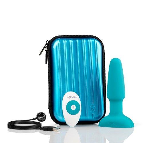 B-Vibe Rimming Plug - Teal 6 Product Image