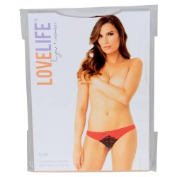 Lovelife: Crotchless Micro and Lace G-String - Red - S/M 6 Product Image
