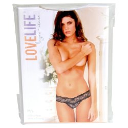 Lovelife: Crotchless V-Thong - Black - M/L 7 Product Image