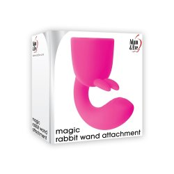 Adam & Eve Magic Rabbit Wand Attachment - Pink 3 Product Image