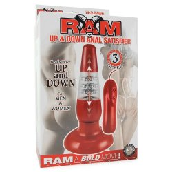 Ram Up & Down Anal Satisfier - Red 6 Product Image