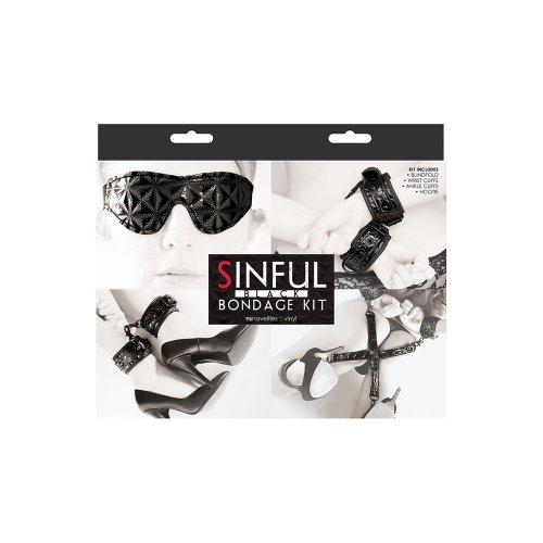 Sinful Bondage Kit - Black 13 Product Image