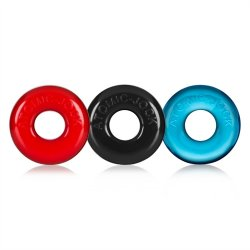 Oxballs Ringer 3-Pack Cockrings - Multi Color 2 Product Image