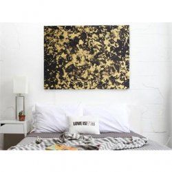 Love Is Art Body Paint And Canvas Kit: Gold & Black 4 Product Image