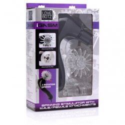 iGasm Spinning Stimulator For Him & Her - Black 8 Product Image