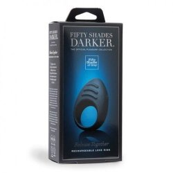 Fifty Shades Darker Collection: Release Together Silicone Rechargeable Love Ring  7 Product Image