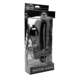 Master Series Inflatable Dildo Gag - Black 4 Product Image