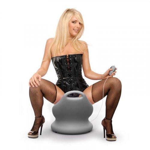 JimmyJane: Lounge Vibrating Rumble Seat - Grey 6 Product Image
