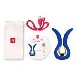 G Vibe Mini Rechargeable Massager - Royal Blue 6 Product Image