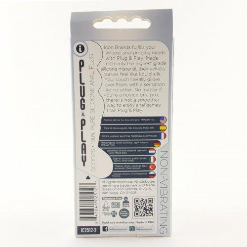 Plug & Play Scoops Butt Plug - Black 7 Product Image
