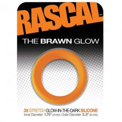 Rascal: The Brawn Cockring - Glow in the Dark - Orange 1 Product Image