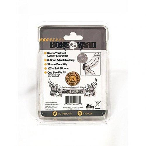 Boneyard Cock Strap - 3 Snap Ring 7 Product Image