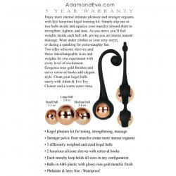 Adam & Eve Intimate Pleasure Kegel Set - Black and Gold 11 Product Image