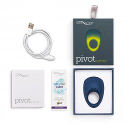 We-Vibe Pivot App Compatible Vibrating Cockring - Midnight Blue 5 Product Image