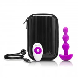 B Vibe Remote Triplet Anal Beads - Fuchsia 1 Product Image
