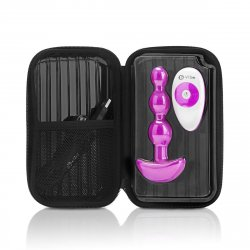 B Vibe Remote Triplet Anal Beads - Fuchsia 7 Product Image