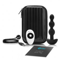 B Vibe Remote Triplet Anal Beads - Black 1 Product Image