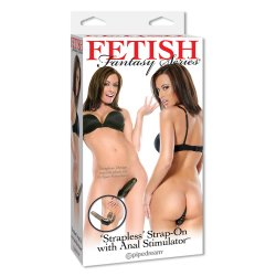 "Fetish Fantasy Strapless Strap On With Anal Stimulator - 5"" - Black 6 Product Image"