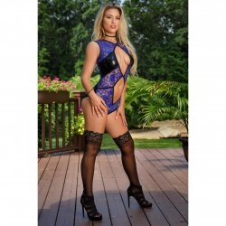 Exposed - Spellbound - Cutout Teddy with Snap Crotch - S/M 2 Product Image