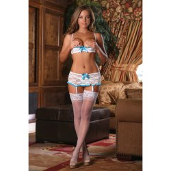 Exposed - Luv Lace - Bra, Garter Skirt & G-String - S/M 1 Product Image